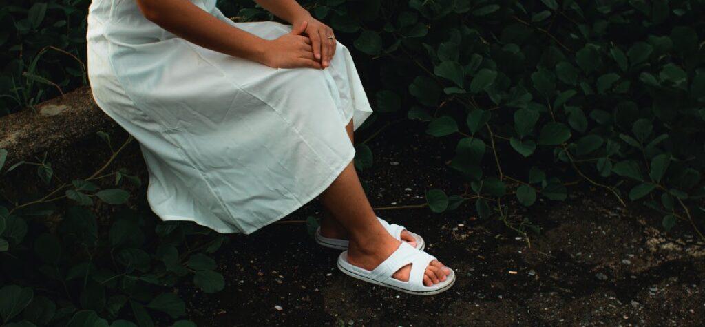 dámske šľapky, biele dámske šľapky