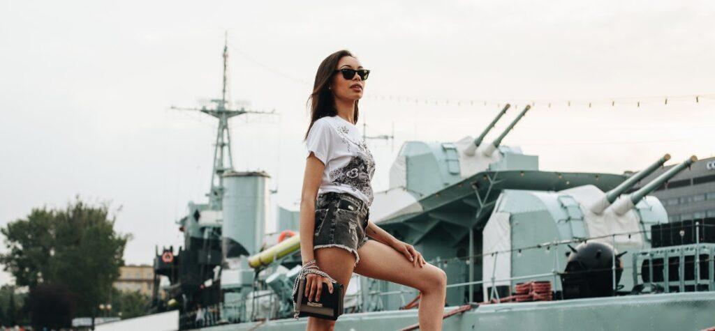 dámske džínsové šortky