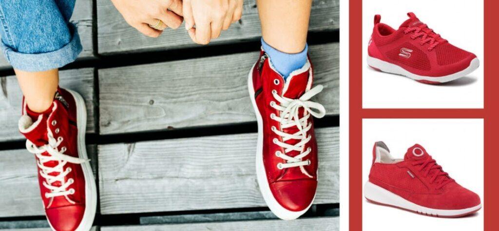 červené topánky, červené tenisky