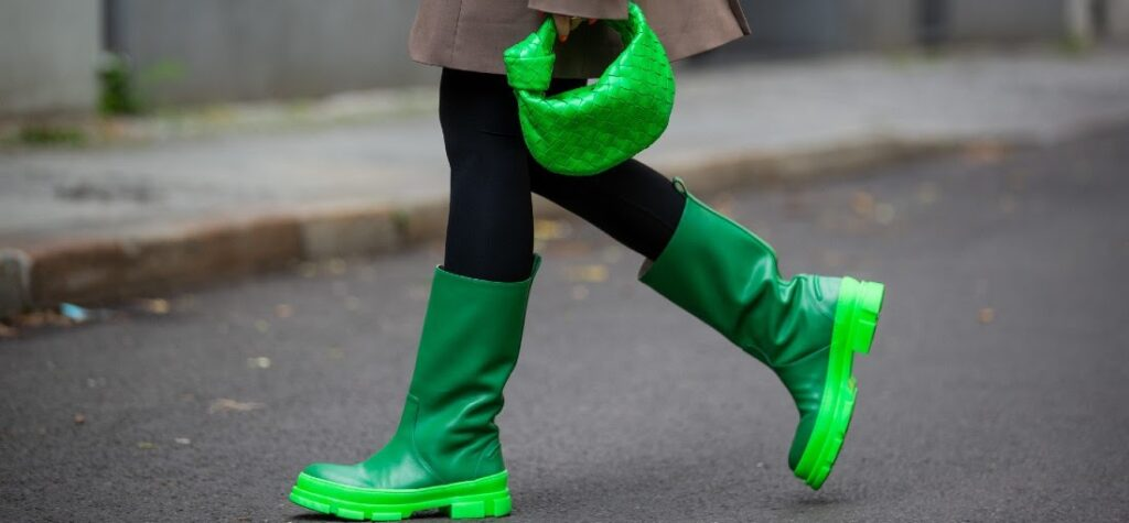 zelené gumáky